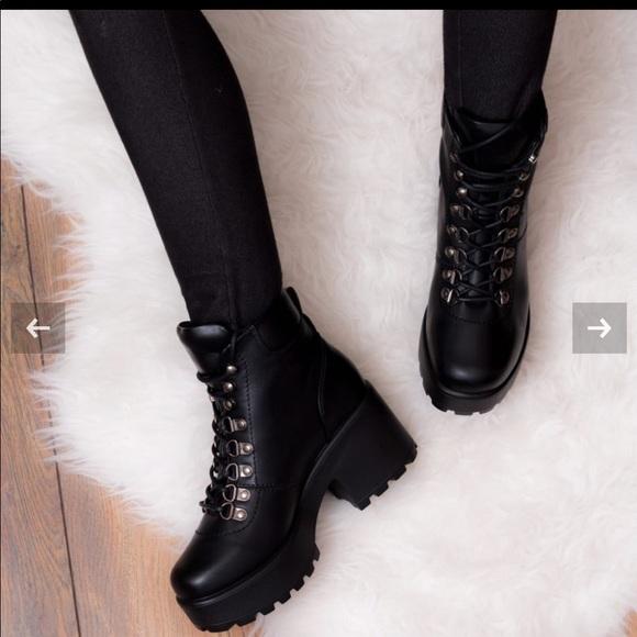 042c1d96c440 New Koi Footwear black booties 6 US 3 UK